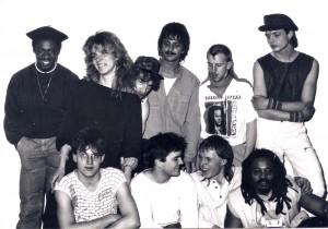 Die Reggaeband The Crucial Mitte der achtziger Jahre